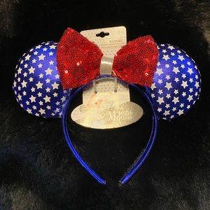 Disney's Minnie Mouse patriotic ears headband